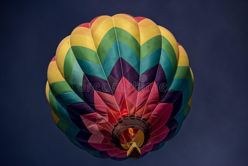 Colorado a palloncino a colori ad aria calda immagine stock