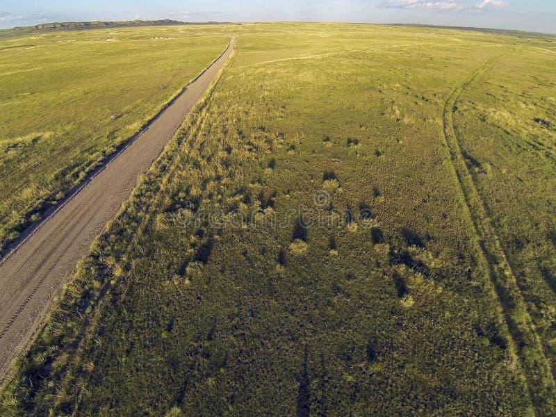 Colorado prairie aerial view royalty free stock image