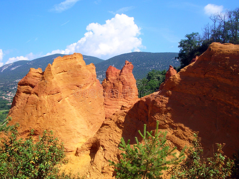 Colorado provencal - France royalty free stock images