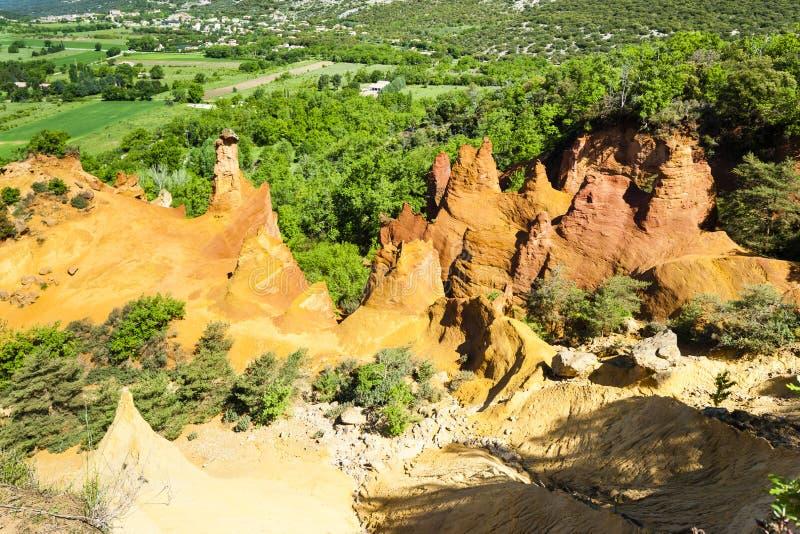 Colorado Provencal, Provence, Frankreich lizenzfreie stockfotos