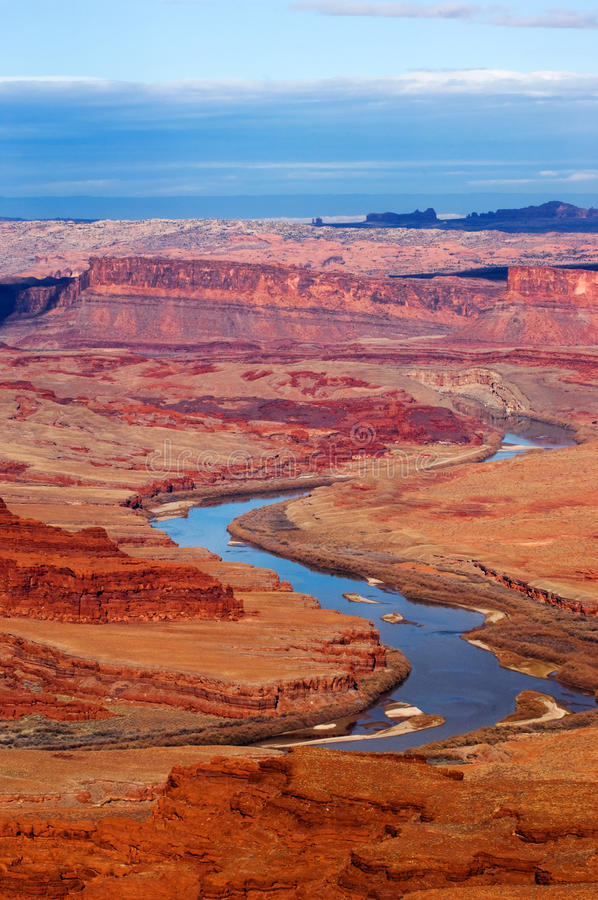Colorado river. Running through remote part of Canyonlands National park, Utah stock images