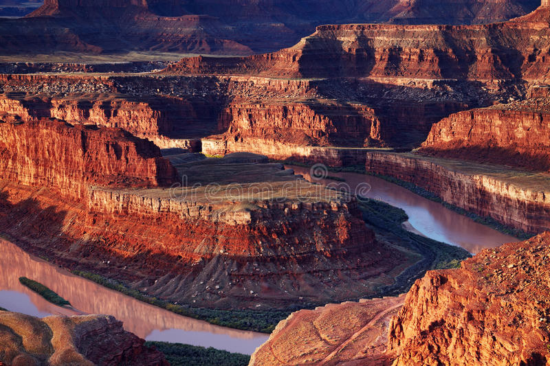 Colorado river. Dead Horse Point, Colorado river, Utah, USA stock photo