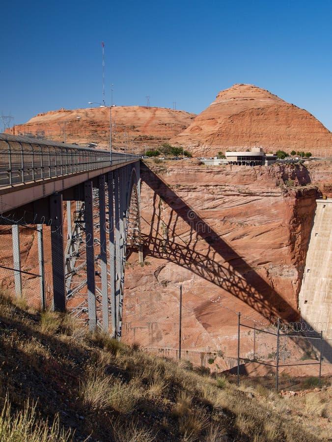 Bridge over Colorado River at Glen Canyon Dam royalty free stock photos