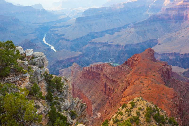 Colorado River. Flowing through South and North Rim of Grand Canyon stock photography