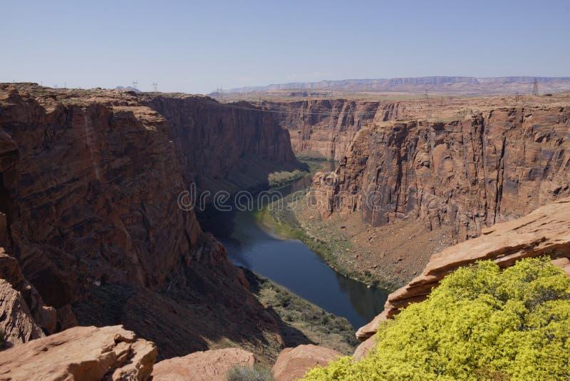 Colorado River in Glen Canyon (Arizona, USA) royalty free stock photography