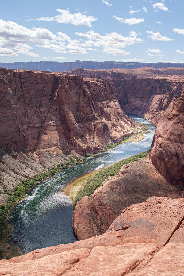 Colorado River between Glen Canyon Dam and Lee`s Ferry, Page, AZ stock photography