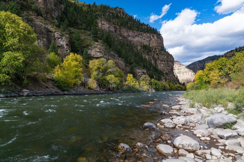 Colorado River in Glenwood Canyon, Colorado royalty free stock image