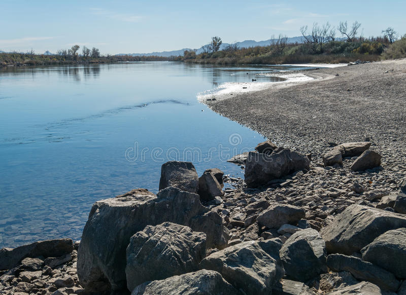 Colorado River near Needles, California stock images