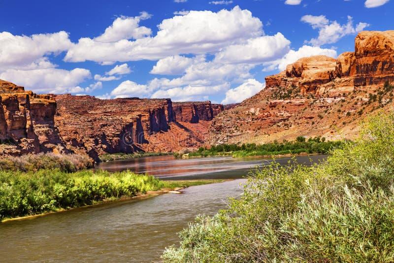 Colorado River Rock Canyon Reflection Stock Images