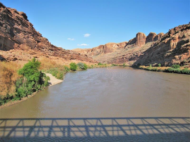 Colorado River Shadows stock photography