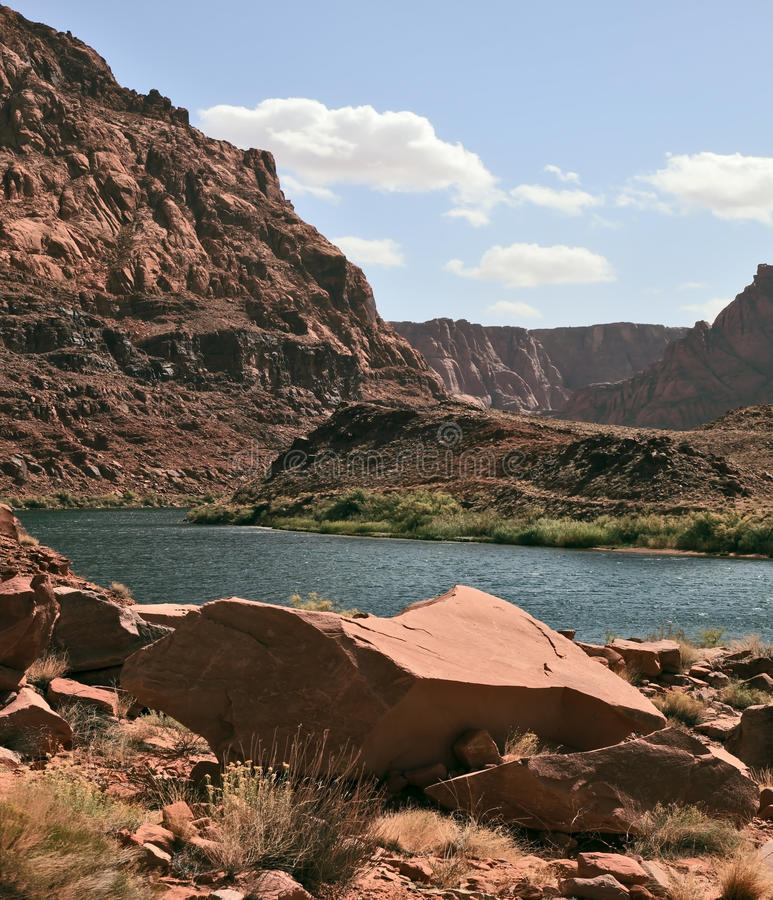 Download The Colorado River In The Steep Banks Stock Image - Image of stone, beauty: 29178513