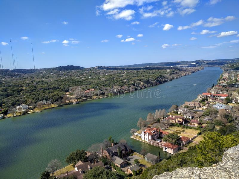 Colorado River in Austin Texas royalty free stock images