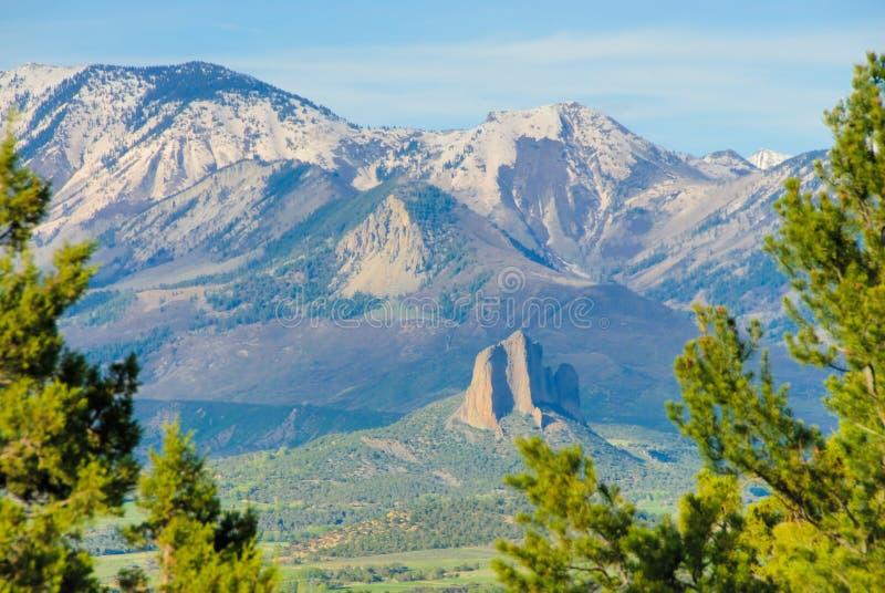 Colorado Rockies. During spring season stock images
