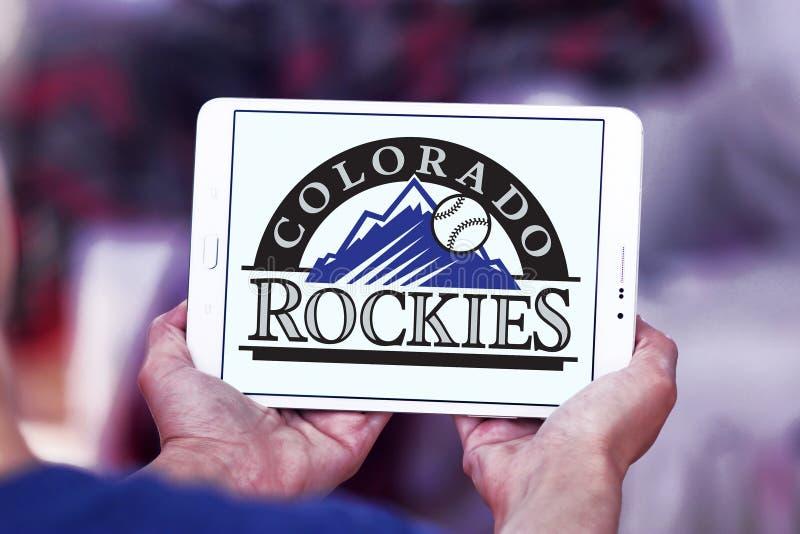 Colorado Rockies baseball team logo. Logo of Colorado Rockies baseball team on samsung tablet. The Colorado Rockies are an American professional baseball team royalty free stock photography