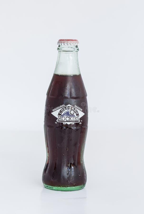 Colorado Rockies Coke Bottle. Colorado Rockies Inaugural Season Coke Bottle royalty free stock photography