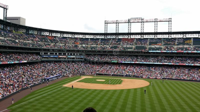 Colorado Rockies - Coors Field. Taken at a Colorado Rockies Game in Denver Colorado at Coors Field. Baseball and Summertime stock photography