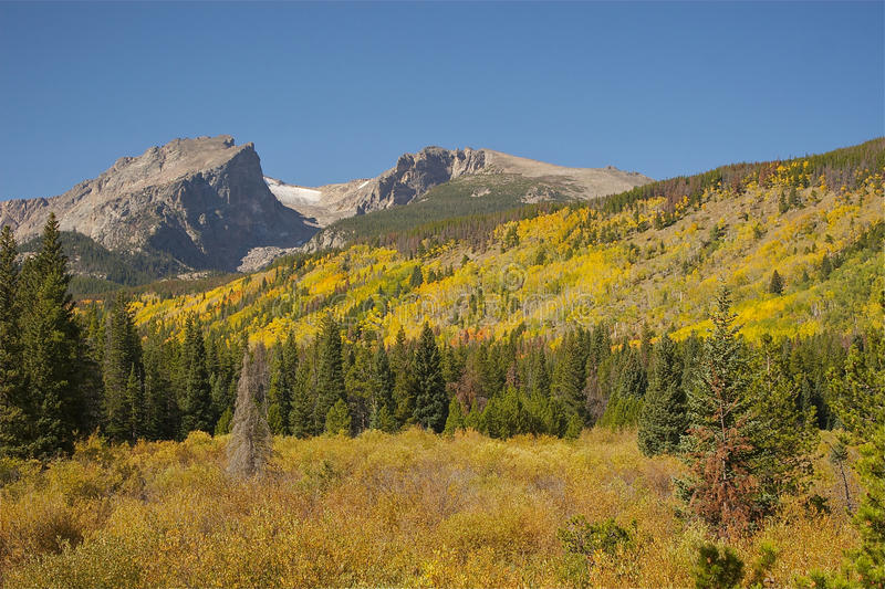 Colorado Rockies in Fall. A scenic view of the colorado rockies in fall stock photo