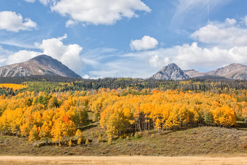 Colorado Rockies in Fall. A scenic view of the colorado rockies in fall royalty free stock photos