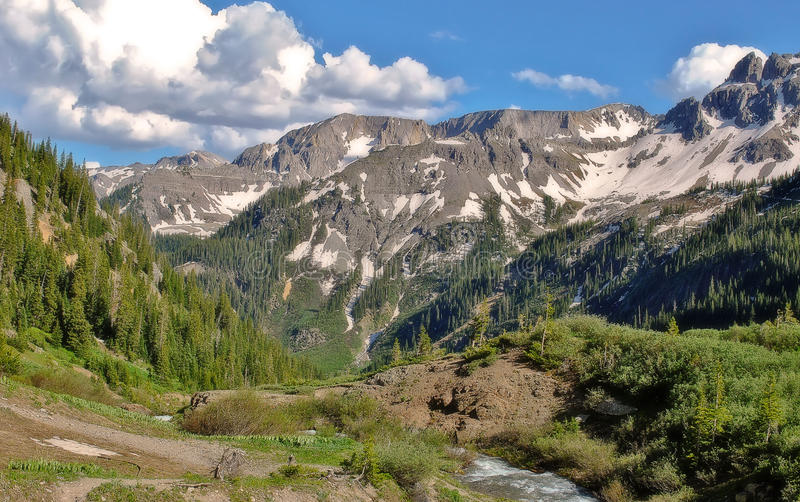 Colorado Rockies. Outside of Telluride, elevation 12,000 ft stock photography