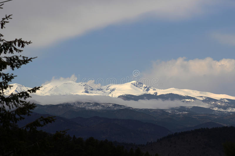 Colorado Rockies. The snowcapped mountains of the colorado Rockies royalty free stock photo