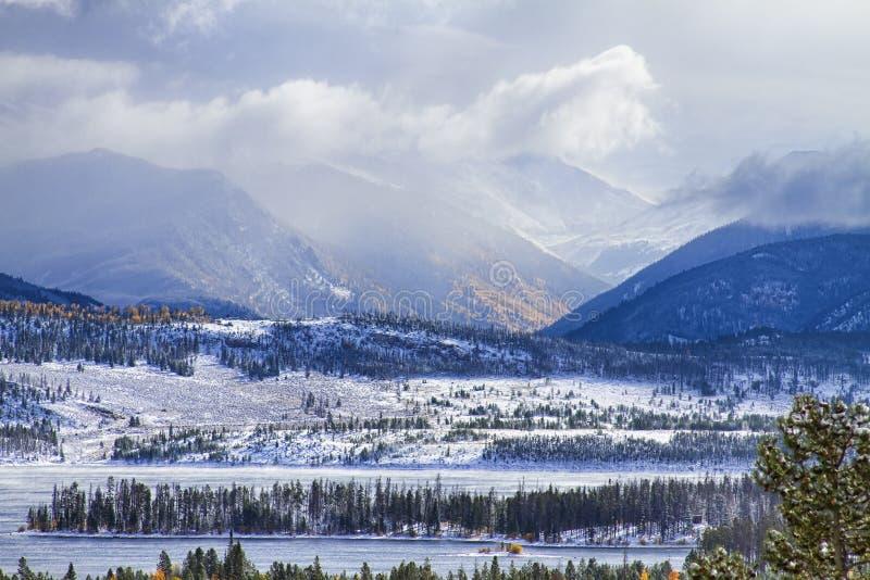 Colorado Rocky Mountain Autumn Storm royalty free stock image