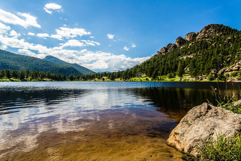 Colorado Rocky Mountain Lily Lake royaltyfria foton