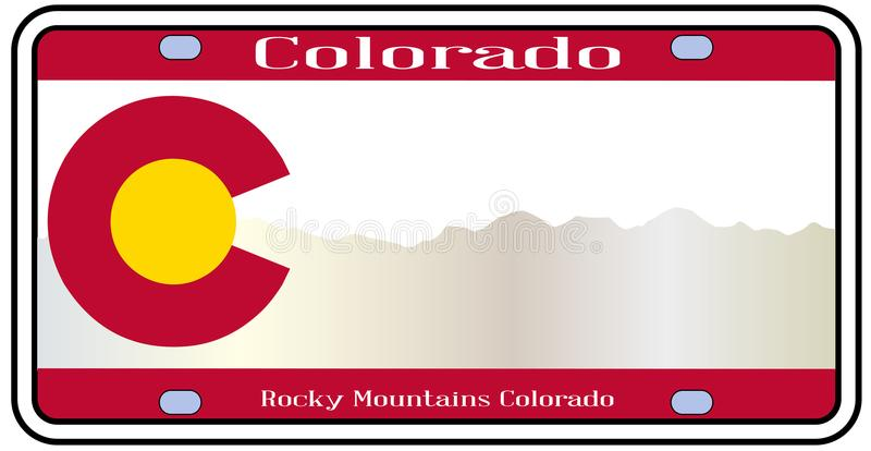 Colorado Rocky Mountain Plate ilustração do vetor