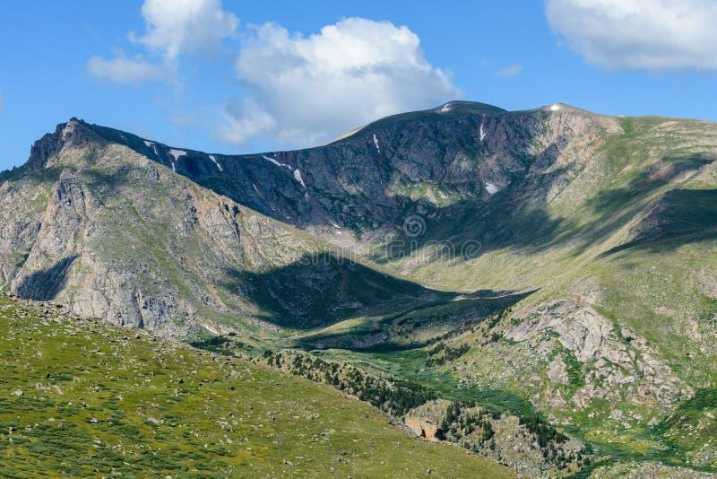 Colorado Rocky Mountain Scenic Beauty - MT de Wildernis van Evans stock foto