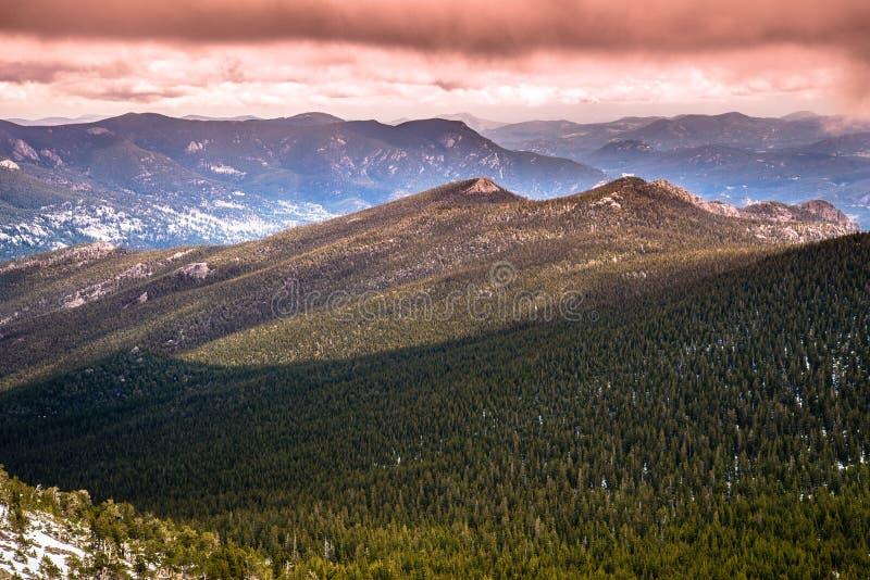 Colorado Rocky Mountain Sunset lizenzfreie stockbilder