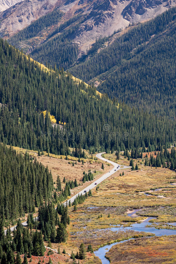 Colorado rocky mountains - independence pass. Colorado rocky mountains - the mountain road highway independence pass during the spring summer - nature landscape royalty free stock photos