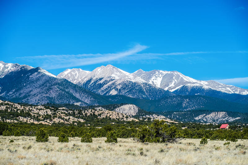 Colorado rocky mountains vista views royalty free stock photo