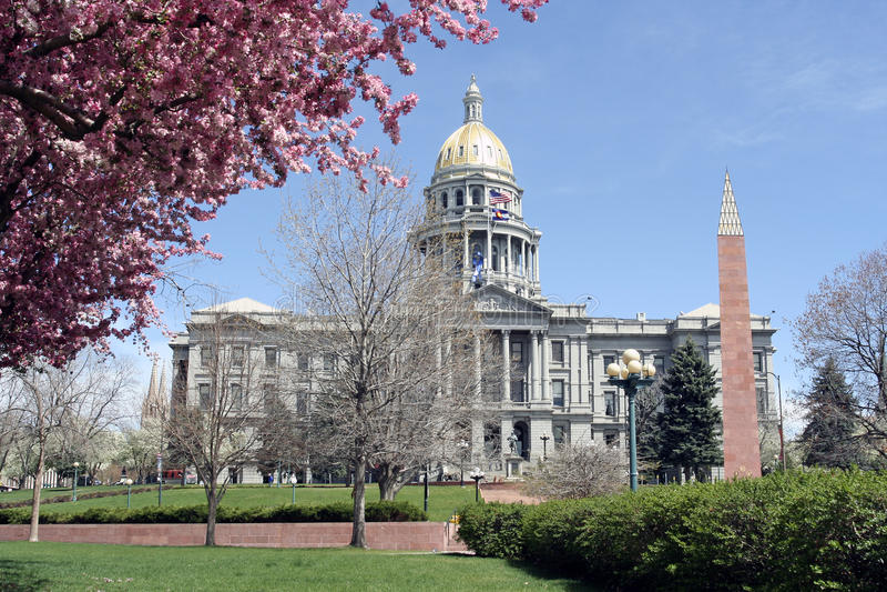 Colorado's Capitol Building stock photography