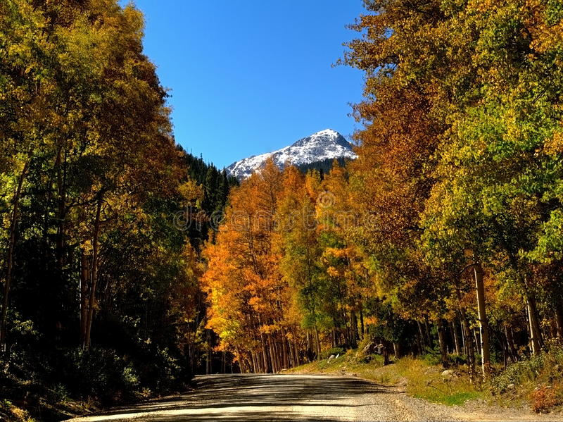 Colorado's Mount Princeton Framed in Autumn Colors. Mount Princeton is framed by beautiful Fall colors in the Rocky Mountains of Colorado. Taken near the royalty free stock photography