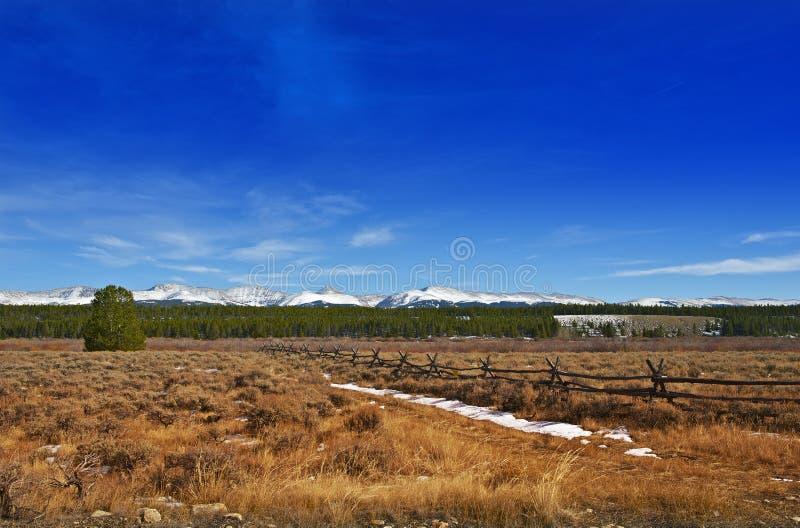 Colorado Scenery. Early WInter Colorado Landscape near Leadville, Colorado, United States royalty free stock photo
