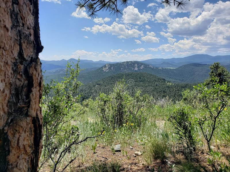Colorado scenic mountain view royalty free stock images