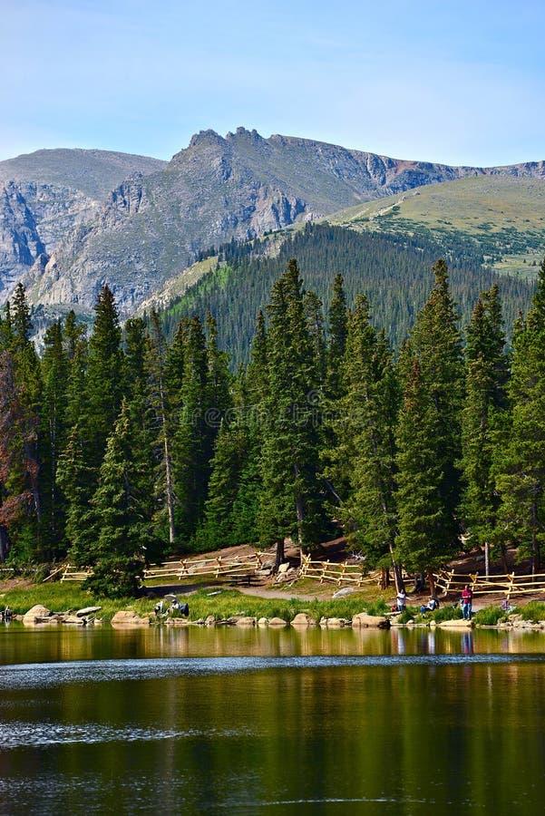Colorado scenico Echo Lake immagine stock