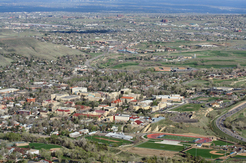 The Colorado School of Mines. CSM is a state engineering university located in Golden, Colorado specializing in the geosciences stock photo
