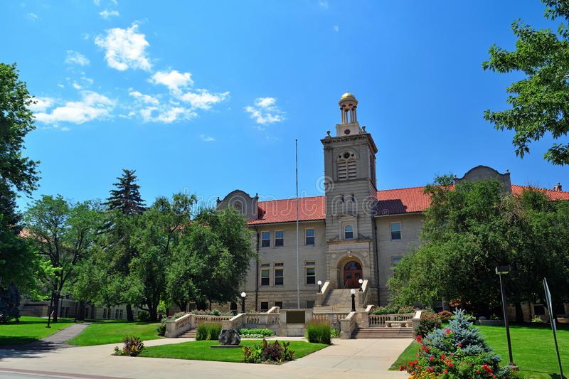 Colorado School of Mines Administration Building on a sunny day.  royalty free stock images