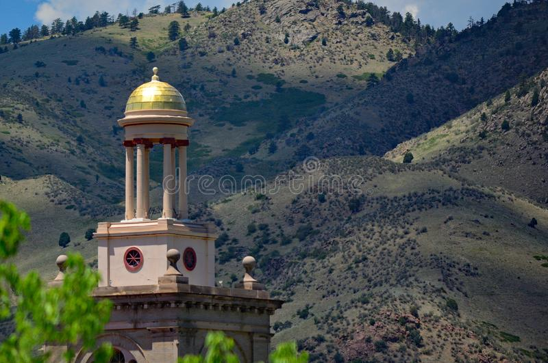 Colorado School of Mines Administration Building Tower on a sunny day.  stock photography