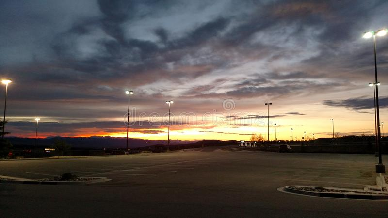 Colorado solnedgångar arkivbild