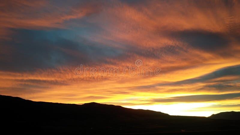 Colorado soluppsättning arkivbild