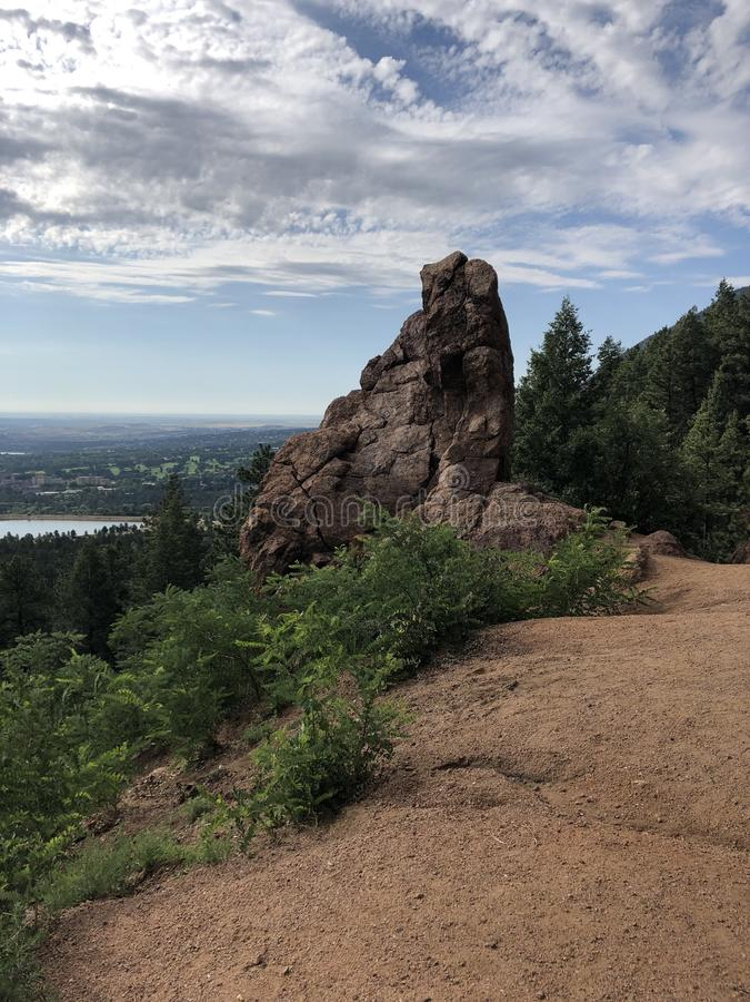 Cheyenne Cañon Park. Colorado Springs City views royalty free stock photo