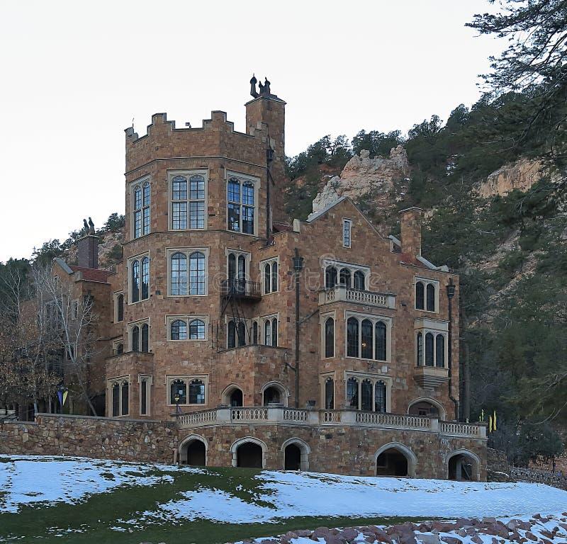 Glen Eyrie - English Tudor Style Castle in Colorado Springs, Colorado royalty free stock images
