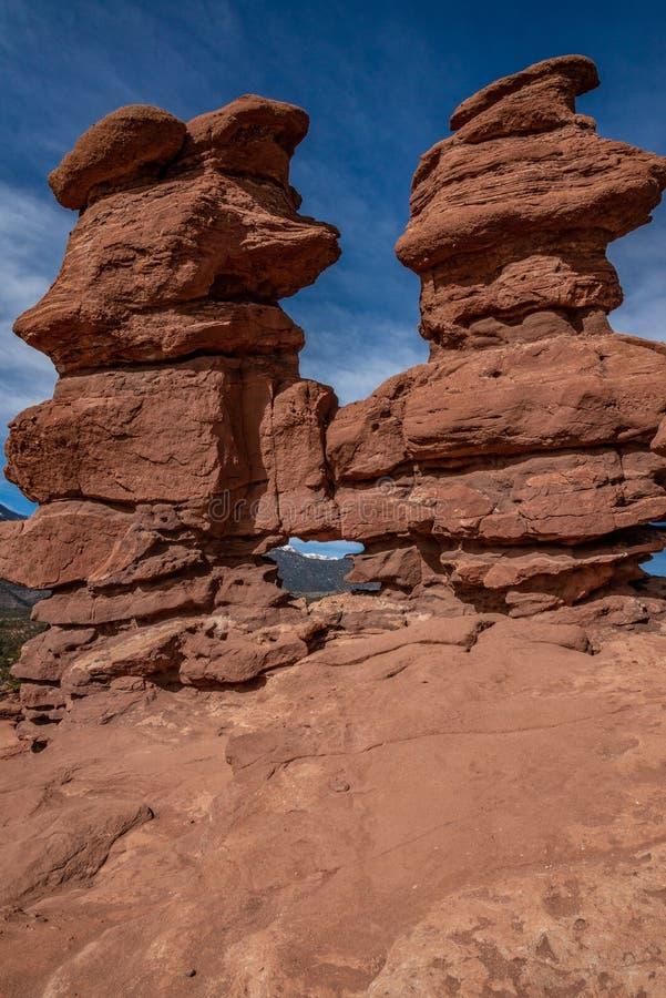 Colorado springs garden of the gods rocky mountains adventure travel photography. Garden of the gods in colorado springs - travel photography on a colorado royalty free stock image