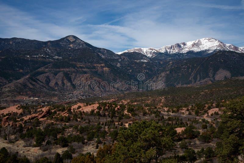 Colorado springs garden of the gods rocky mountains adventure travel photography. Garden of the gods in colorado springs - travel photography on a colorado stock photo