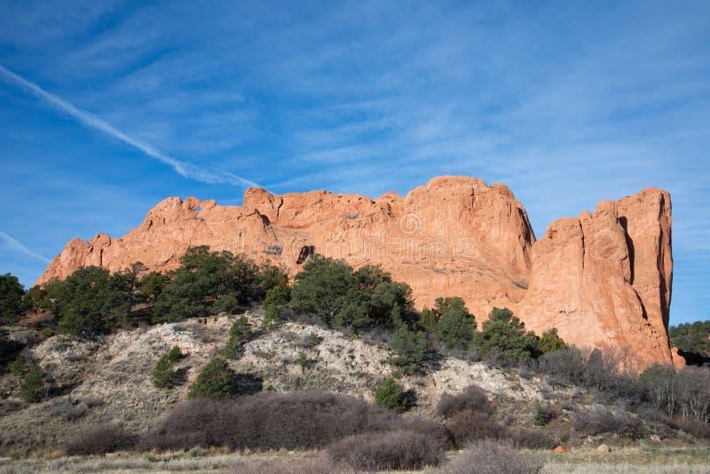 Colorado springs garden of the gods rocky mountains adventure travel photography. Garden of the gods in colorado springs - travel photography on a colorado royalty free stock photography