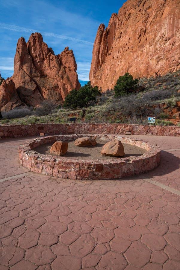 Colorado springs garden of the gods rocky mountains adventure travel photography. Garden of the gods in colorado springs - travel photography on a colorado royalty free stock images
