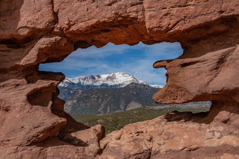 Colorado springs garden of the gods rocky mountains adventure travel photography. Garden of the gods in colorado springs - travel photography on a colorado royalty free stock photo