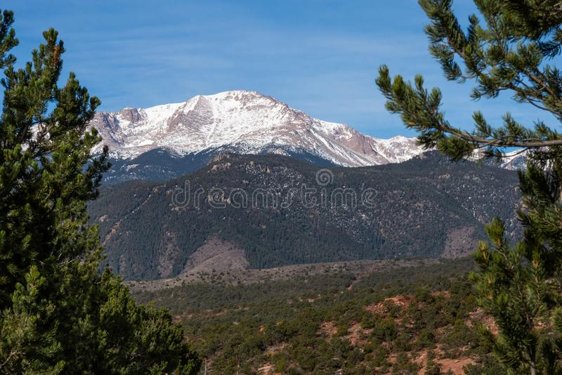 Colorado springs pikes peak rocky mountains adventure travel photography. Pikes peak in colorado springs - travel photography on a colorado vacation in the rocky royalty free stock images