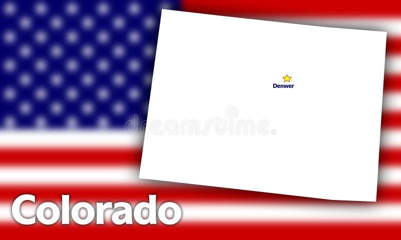 Colorado state contour stock illustration